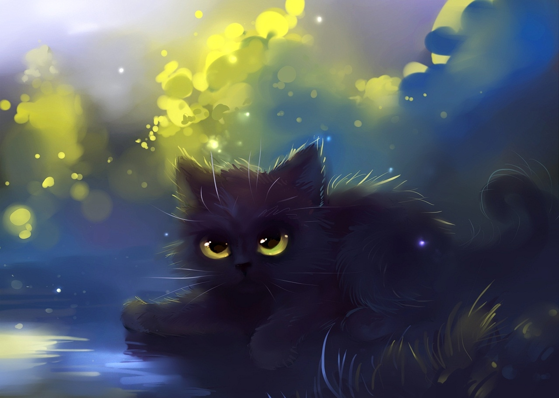 гифки коты аниме