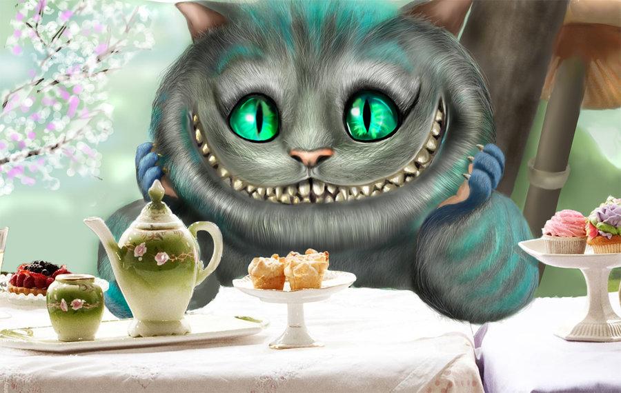 Математические знаки, чеширский кот открытка с днем рождения