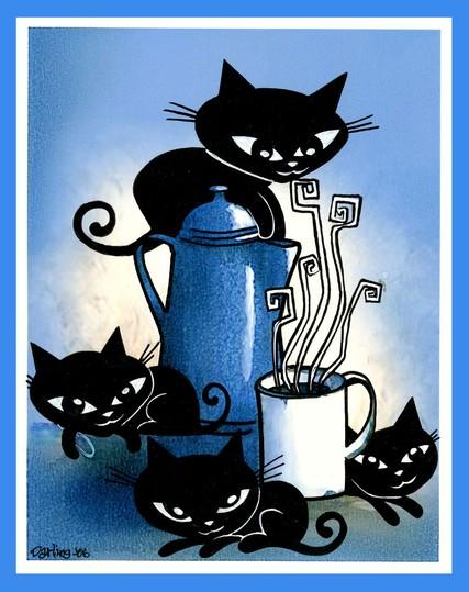 Wacky kitties by ann da